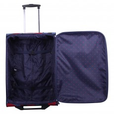 Tripp denim blue/poppy 'Leaf' medium 2 wheel suitcase